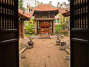 05 APRIL 2012 - HANOI, VIETNAM: A ceremonial drum at the Temple of Literature in Hanoi, the capital of Vietnam. The Temple of Literature (Vietnamese: Vn Miu, Hán t) is a temple of Confucius in Hanoi, northern Vietnam. The compound also houses the Imperial Academy (Quc T Giám). The temple also functioned as Vietnam's first university. The temple was first constructed in 1070 under King Lý Nhân Tông and is dedicated to Confucius, sages and scholars.   PHOTO BY JACK KURTZ