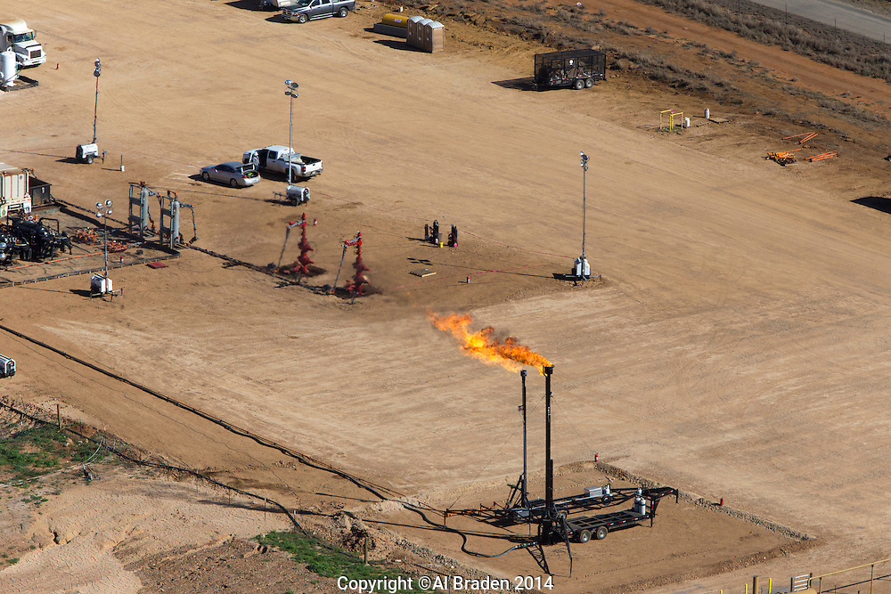 Flowback operations and flares, Cotulla, TX