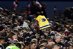 A general view of a Worcester Warriors supporter in the crowd - Mandatory byline: Patrick Khachfe/JMP - 07966 386802 - 29/12/2018 - RUGBY UNION - Allianz Park - London, England - Saracens v Worcester Warriors - Gallagher Premiership Rugby