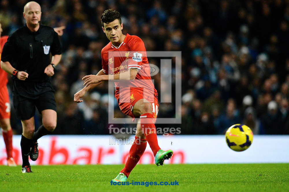 Picture by Ian Wadkins/Focus Images Ltd +44 7877 568959<br /> 26/12/2013<br /> Philippe Coutinho of Liverpool during the Barclays Premier League match at the Etihad Stadium, Manchester.