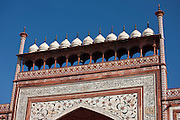 The Great Gate, Darwaza-i rauza, of The Taj Mahal Complex, southern gateway entrance, Uttar Pradesh, India