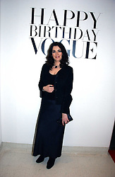 NIGELLA LAWSON at a party to celebrate the 90th birthday of Vogue magazine held at The Serpentine Gallery, Kensington Gardens, London on 8th November 2006.<br />
