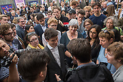 RORY STEWART, Rory For Leader party at end of campaign. Underbelly Festival Garden<br /> London SE1 8XX. 20 June 2019