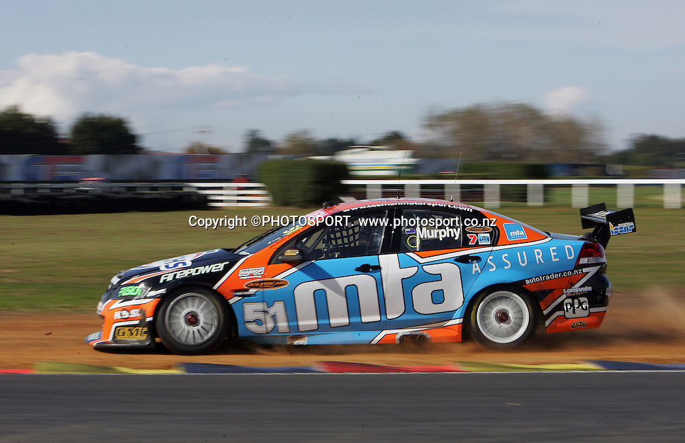 Tasman Motorsport's Greg Murphy in action during Race 2 at the Placemaker V8 Supercars in Pukekohe, New Zealand, on Sunday 22 April 2007. Toll HSV Dealer Team's Garth Tanner won race 2. Photo: Michael Bradley/PHOTOSPORT