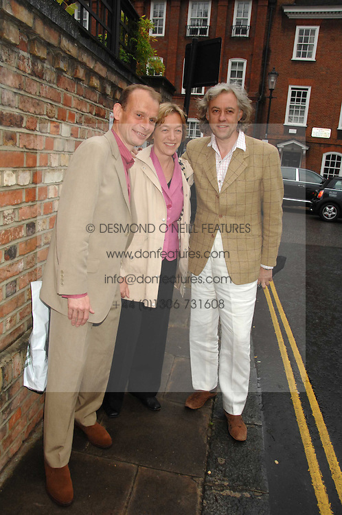 Left to right, ANDREW MARR, ? and BOB GELDOFF at the annual Sir David & Lady Carina Frost Summer Party in Carlyle Square, London SW3 on 5th July 2007.<br /><br />NON EXCLUSIVE - WORLD RIGHTS