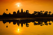 Sunrise at Angkor Wat of Siem Reap Cambodia