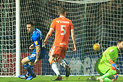 GOAL Ian Henderson scores a last minute winner 2-1 during the EFL Sky Bet League 1 match between Rochdale and Blackpool at Spotland, Rochdale, England on 26 December 2018.