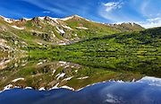 Alpine scenery at Linkins Lake, located at the end of a short hiking trail at Independence Pass, Colorado