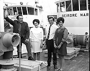 8th July 1969<br /> <br /> Special for B.I.M. Arrival of two new French built trawlers for Killybegs. Pictured are members of the crew and skipper of the vessels moored at George's Quay, Dublin.