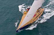 SPAIN, Alicante. 3rd November 2011. Volvo Ocean Race Legends Regatta. Ambersail, ex Assa Abloy.