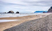 Looking north from Cape Falcon towards the Arcadia Beach State Recreation Site on the Oregon coast near Arch Cape