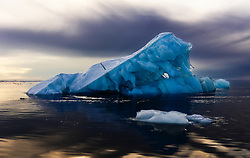 Iceberg in Hinlopen, Svalbard, Norway