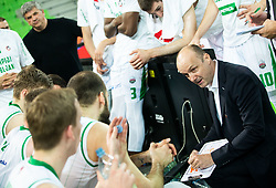 Jure Zdovc, coach of Petrol Olimpija during basketball match between KK Petrol Olimpija and KK Krka in Round #6 of Liga Nova KBM za prvaka 2018/19, on April 5, 2019, in Arena Stozice, Ljubljana, Slovenia. Photo by Vid Ponikvar / Sportida