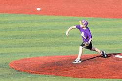 11 July 2012:  A selected youth gets a chance to throw out the ceremonial first pitch during the Frontier League All Star Baseball game at Corn Crib Stadium on the campus of Heartland Community College in Normal Illinois