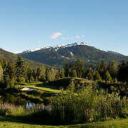 Hole 8 on the Chateau Whistler Golf Course.  Whistle BC, Canada.