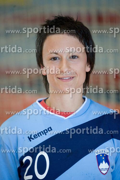 Portrait of Teja Djurovic of Slovenian Handball Women National Team, on June 3, 2009, in Arena Kodeljevo, Ljubljana, Slovenia. (Photo by Vid Ponikvar / Sportida)