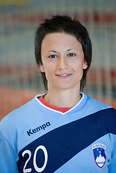 Portrait of Teja Djurovic of Slovenian Handball Women National Team, on June 3, 2009, in Arena Kodeljevo, Ljubljana, Slovenia. (Photo by Vid Ponikvar / Sportida)