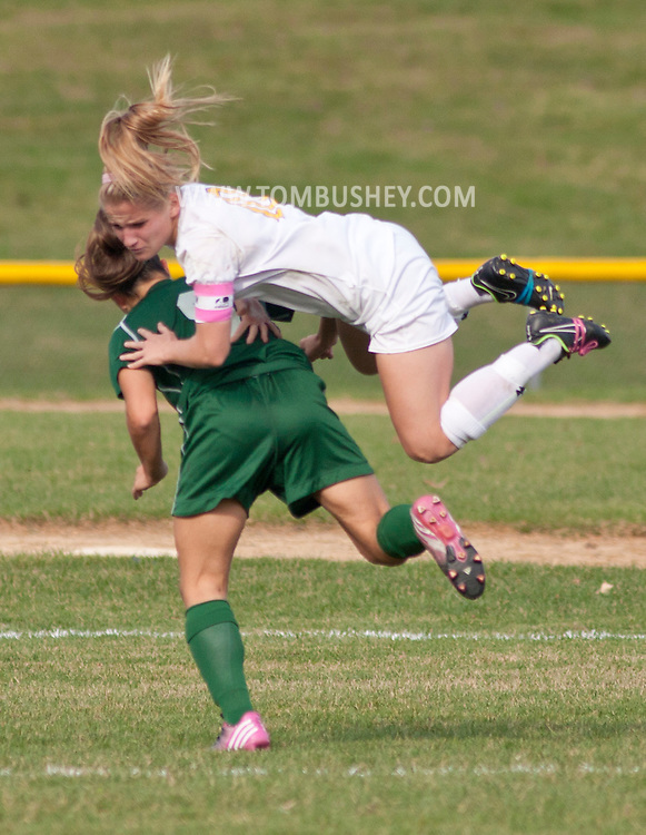 Washingtonville, New York  - Minisink Valley High School plays Washingtonville in a Section 9 Class AA semfinal game on Oct. 28, 2014. Minisink Valley won 2-1.