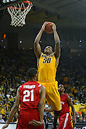January 27, 2010: Iowa forward Jarryd Cole (50) during the second half of their game at Carver-Hawkeye Arena in Iowa City, Iowa on January 27, 2010. Ohio State defeated Iowa 65-57.
