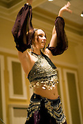 Ohio student Sara Wreath puts on a belly dance performance during Arabic Culture Night at the new Baker Center.