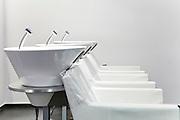 Hair styling salon - wash basins and chairs