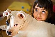 Paraty_RJ, Brasil...Retrato de uma garota com cachorro...A girl portrait with a dog...Foto: JOAO MARCOS ROSA / NITRO