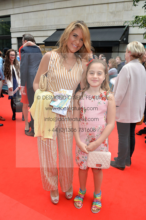 Gemma Oaten arriving at The opening night of Wind in The Willows at the London Palladium, Argyll Street, London England. 29 June 2017.<br /> Photo by Dominic O'Neill/SilverHub 0203 174 1069 sales@silverhubmedia.com