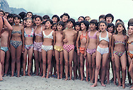 Abania in 1981 under the communist regime. Durres. pionniers camp on durres beach , for kids from 8 to 14 years old, the camp is surrounded by blockhaus .