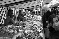 the Saturday market near Place d'Alma, Paris