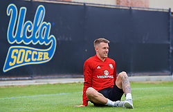 LOS ANGELES, USA - Wednesday, May 23, 2018: Wales' Aaron Ramsey during a training session at UCLA ahead of the International friendly match against Mexico. (Pic by David Rawcliffe/Propaganda)