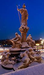 15.12.2010, Innere Stadt, Wien, AUT,  Wien Feature, im Bild Statue Pallas Athene Blick auf Ring// EXPA Pictures © 2010, PhotoCredit: EXPA/ M. Gruber