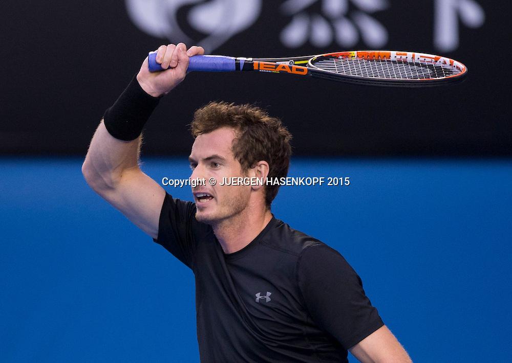 Andy Murray (GBR)<br /> <br /> Tennis - Australian Open 2015 - Grand Slam ATP / WTA -  Melbourne Olympic Park - Melbourne - Victoria - Australia  - 1 February 2015.