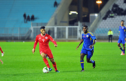 March 22, 2019 - Rades, Tunisia - Anis Badri(9) of Tunisia and Gamedze Sandile(4) during the Match Tunisia vs Eswatini at the Rades Olympic stadium in the last qualifying round of the 2019 African Nations Cup finals vs. Tun vs Eswatini 4/0. (Credit Image: © Chokri Mahjoub/ZUMA Wire)
