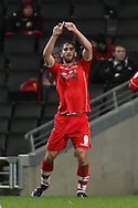 Picture by David Horn/Focus Images Ltd +44 7545 970036.26/12/2012.Will Grigg of Walsall celebrates scoring during the npower League 1 match at stadium:mk, Milton Keynes.