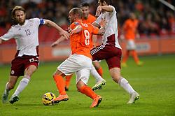 16-11-2014 NED: EK Kwalificatie Nederland - Letland, Amsterdam<br /> Nederland wint in de Arena met 6-0 van Letland / Wesley Sneijder
