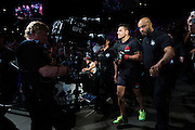 LAS VEGAS, NV - JULY 7:  Rafael dos Anjos walks to the Octagon during UFC Fight Night at MGM Grand Garden Arena on July 7, 2016 in Las Vegas, Nevada. (Photo by Cooper Neill/Zuffa LLC/Zuffa LLC via Getty Images) *** Local Caption *** Rafael dos Anjos