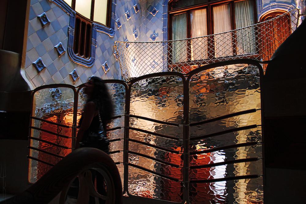 The inner shaft of Casa Batllo, Barcelona.