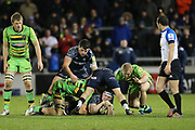clean ball for Sale during the Aviva Premiership match between Sale Sharks and Northampton Saints at the AJ Bell Stadium, Eccles, United Kingdom on 25 November 2017. Photo by George Franks.