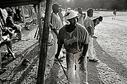 "Diamond's in the Dust for ESPN - Cecil ""CJ"" Hentz, 21, waits to bat against Upstate at Rutherford's Field in Newberry, SC. Hentz went to Mid-Carolina High School, where he was an All-Region and All-State player and lettered in three sports. Baseball, football and basketball. ""It gives us something to do on the weekends,"" he said."