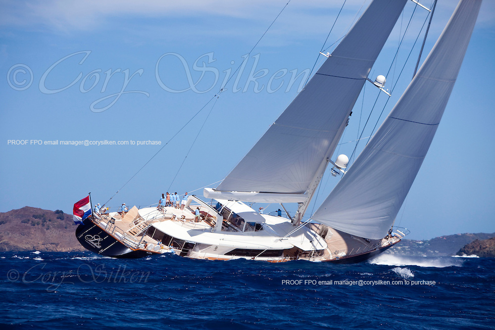 Salute racing in the St. Barth's Bucket Regatta.