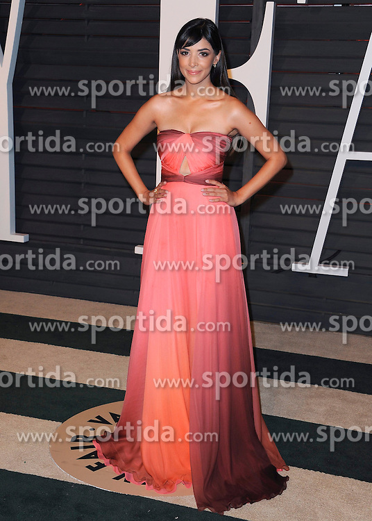 22.02.2015, Wallis Anneberg Center for the Performing Arts, Beverly Hills, USA, Vanity Fair Oscar Party 2015, Roter Teppich, im Bild Hannah Simone // during the red Carpet of 2015 Vanity Fair Oscar Party at the Wallis Anneberg Center for the Performing Arts in Beverly Hills, United States on 2015/02/22. EXPA Pictures &copy; 2015, PhotoCredit: EXPA/ Newspix/ PGSK<br /> <br /> *****ATTENTION - for AUT, SLO, CRO, SRB, BIH, MAZ, TUR, SUI, SWE only*****