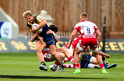 Ollie Allsopp of Worcester Warriors is tackled - Mandatory by-line: Robbie Stephenson/JMP - 29/07/2017 - RUGBY - Franklin's Gardens - Northampton, England - Worcester Warriors v Gloucester Rugby - Singha Premiership Rugby 7s