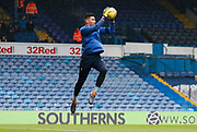 Cardiff City goalkeeper Neil Etheridge warming up during the EFL Sky Bet Championship match between Leeds United and Cardiff City at Elland Road, Leeds, England on 3 February 2018. Picture by Paul Thompson.