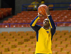 Dec 17, 2015; Charleston, WV, USA; West Virginia Mountaineers guard Jevon Carter (2) warms up before their game against the Marshall Thundering Herd at the Charleston Civic Center . Mandatory Credit: Ben Queen-USA TODAY Sports