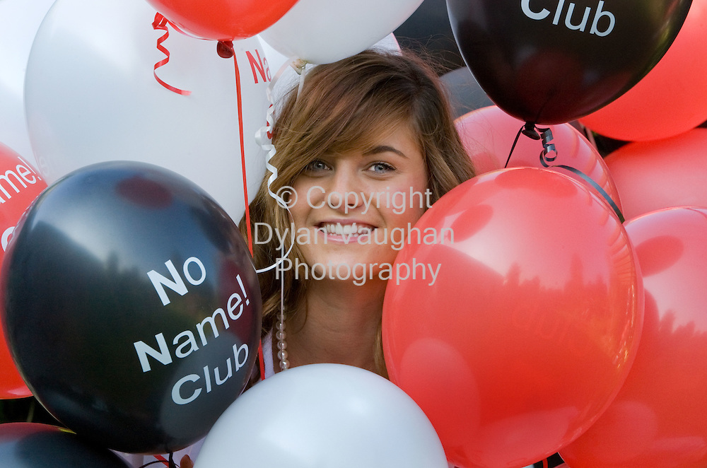 28/9/2008.free picture no charge for use.Pictured at No Name Club's 30th anniversary in Kilkenny yesterday (Sunday) was No Name Club Hostess of the year 2008 Rochelle McIntyre, celebrating the impact the organisation has had on over 500,000 Irish teens since its inception in 1978. No Name Club is the national voluntary organisation providing alcohol and drug free activities for young people. See www.nonameclub.ie..Picture Dylan Vaughan.