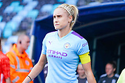 Manchester City Women defender Steph Houghton (captain) (6) during the FA Women's Super League match between Manchester City Women and BIrmingham City Women at the Sport City Academy Stadium, Manchester, United Kingdom on 12 October 2019.