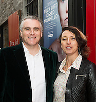 "Paul Fahy Artistic Director GIAFand Varavara Shavrova at the World Premiere of the ""Luck Just Kissed you Hello""by Amy Conroy in the Mick Lally theatre (Druid) on the opening night of Galway international Arts Festival. Photo:andrew Downes xposure"