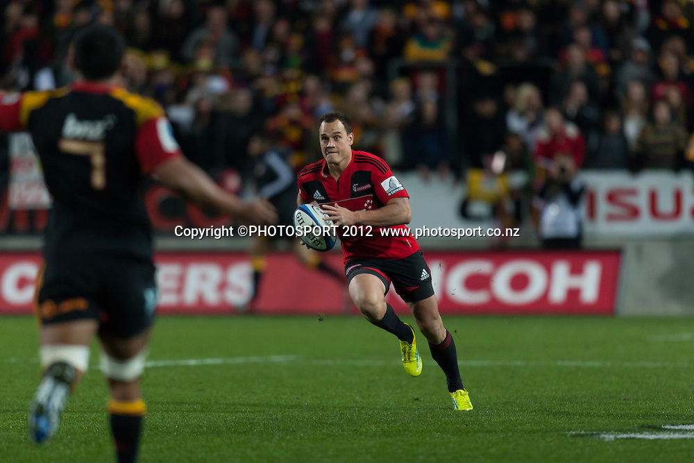 Crusaders' Israel Dagg during the Super Rugby Semi Final won by the Chiefs (20-17) against the Crusaders at Waikato Stadium, Hamilton, New Zealand, Friday 27 July 2012. Photo: Stephen Barker/Photosport.co.nz