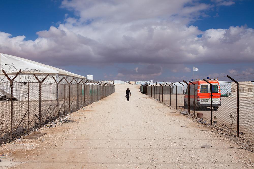 Za'atari refugee camp in Jordan.