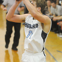 Hoggard's Jack Bagley shoots against New Hanover Friday December 12, 2014 at Hoggard High School in Wilmington, N.C. (Jason A. Frizzelle)
